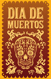 Dia de Muertos - Mexican Day of the death. Spanish text vector decoration - lettering Royalty Free Stock Photo