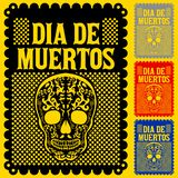Dia de Muertos Mexican Day of the death spanish text vector poster decoration royalty free illustration