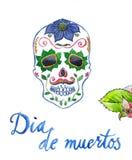 Dia de muertos, mexican holiday, colored skul Royalty Free Stock Image
