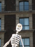 Dia de Muertos Mexico city. Halloween celebration, with statues of skeletons Stock Images