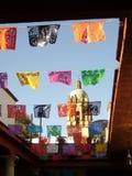 Dia de muertos, oaxaca. Traditional 'dia de muertos' chopped paper banners in Oaxaca City, Oaxaca, Mexico Stock Images