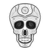 Dia de Muertos Tattoo死者的头骨天 库存图片