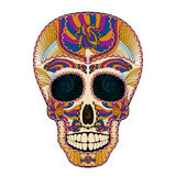 Dia de Muertos Tattoo Skull Day of The Dead Colorful Royalty Free Stock Photo