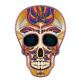 Dia de Muertos Tattoo Skull Day del colorido muerto stock de ilustración