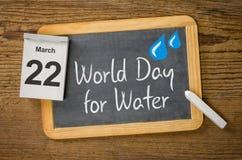 Dia de mundo para a água Fotos de Stock Royalty Free