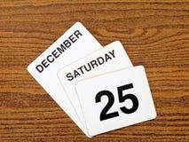 Dia de Natal 2010 do calendário Imagem de Stock Royalty Free