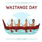 Dia de Nova Zelândia Waitangi no 6o fevereiro Imagem de Stock Royalty Free