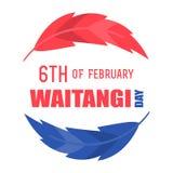 Dia de Nova Zelândia Waitangi no 6o fevereiro Imagem de Stock