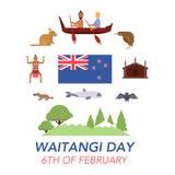 Dia de Nova Zelândia Waitangi no 6o fevereiro Foto de Stock
