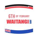 Dia de Nova Zelândia Waitangi no 6o fevereiro Imagens de Stock Royalty Free