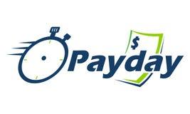 Dia de pagamento Logo Emblem ilustração royalty free