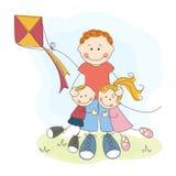 Dia de pai feliz Imagens de Stock Royalty Free