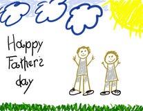 Dia de pai feliz Imagens de Stock