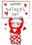 Dia de pai feliz! Imagens de Stock