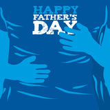 Dia de pai feliz Fotos de Stock