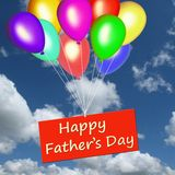 Dia de pai feliz em um cartão Foto de Stock Royalty Free