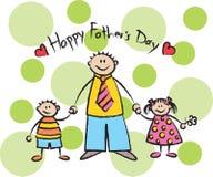 Dia de pai feliz - luz ilustração do vetor