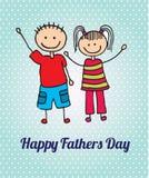 Dia de pais feliz ilustração do vetor
