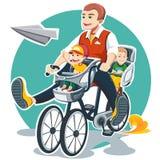 Dia de pais feliz Imagens de Stock