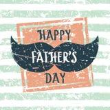 Dia de pais feliz, cartão do vetor Teste padrão sem emenda da listra ilustração stock