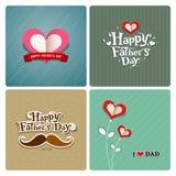 Dia de pais feliz, coleções do paizinho do amor ilustração royalty free