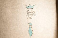 Dia de pais feliz escrito mão Imagens de Stock Royalty Free