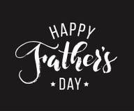 Dia de pais feliz Rotulação tirada mão para o cartão Fotografia de Stock Royalty Free