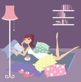 Dia de relaxamento em casa ilustração stock