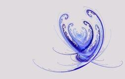 Dia de são valentim abstrato do coração do fractal ilustração royalty free