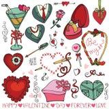 Dia de são valentim, corações do casamento, quadro, elemento da decoração Fotografia de Stock
