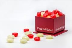 Dia de são valentim da caixa dos doces do amor do coração Imagem de Stock