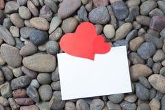Dia de são valentim de papel do coração Foto de Stock