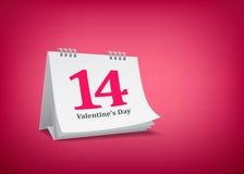 Dia de são valentim do calendário Imagens de Stock Royalty Free