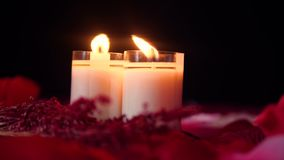 Dia de são valentim feliz com metragem da queimadura da vela filme