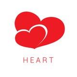 Dia de são valentim vermelho dos corações de Logo Icon, médico, casamento Fotografia de Stock
