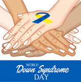 Dia de Síndrome de Down do mundo ilustração stock