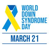 Dia de Síndrome de Down do mundo - vetor ilustração royalty free
