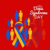 Dia de S?ndrome de Down do mundo ilustração do vetor