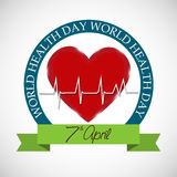 Dia de saúde de mundo Fotografia de Stock Royalty Free