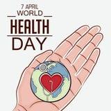 Dia de saúde de mundo Imagem de Stock