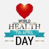 Dia de saúde de mundo Imagens de Stock