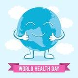 Dia de saúde de mundo Ilustração do vetor para o feriado do projeto Fotografia de Stock