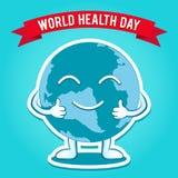 Dia de saúde de mundo Ilustração do vetor para o feriado do projeto Imagem de Stock