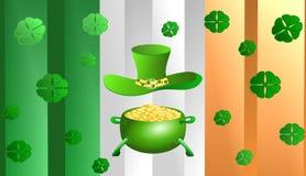Dia de St Patrick, ilustração 3D ilustração stock