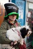 Dia de St Patrick s em Bucareste Fotos de Stock