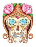 Dia de Sugar Skull dos mortos Fotografia de Stock Royalty Free