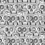 Dia de Sugar Skull Seamless Vetora Background inoperante Fotos de Stock Royalty Free