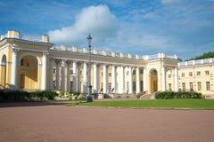 Dia de Sunny July no palácio de Alexander Selo de Tsarskoye, Rússia Imagem de Stock