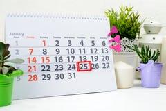 Dia de Tatyanas e dia dos estudantes 25 de janeiro Dia 25 do mês sobre Fotografia de Stock Royalty Free