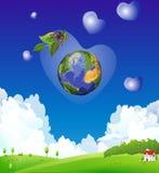Dia de terra Imagens de Stock Royalty Free